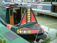 Cratch and bow design on Albert at Bradford on Avon Marina