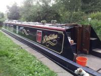 Beautiful Narrowboat with Traditional Style Vinyl Lettering for Narrowboats