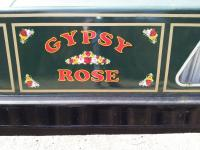 Traditional Style Vinyl Lettering for Narrowboats Traditional style vinyl canal roses in a line